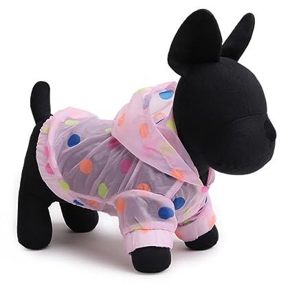 Amazon com : Tromy Polka Dots Pet Clothes Dog Raincoat