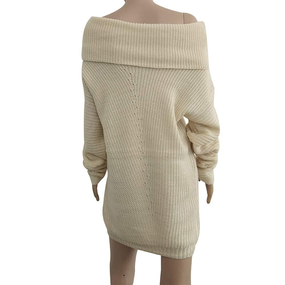 Damen Strickpullover Rovinci Casual Langarm Sweater Pullover