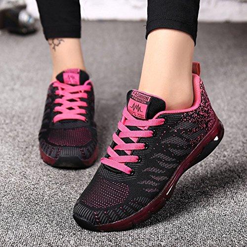 De Cushion Étudiantes Rose Air Volantes Net Chaussures Sneakers Course Tissées Vif Bhydry gnBpqYUxSW