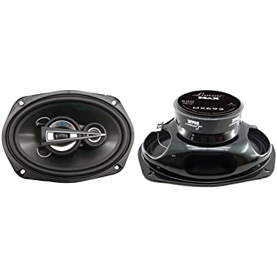 """Lanzar Upgraded Standard 6"""" x 9"""" 3 Way Pair of Triaxial Speakers - Powerful 600 Watts and 4 Ohms 2.5"""" Polymer Cone Midrange 1"""" Tweeter 40 - 22 kHz Frequency Response and 36 Oz Magnet Structure - MX693: Car Electronics"""