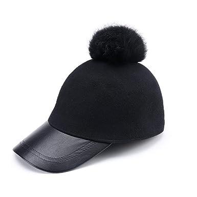 Wool Pom Pom Baseball Cap Women Pom Pom caps Hats Bone Gorras Planas Cap Baseball Cap