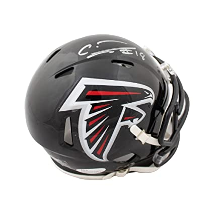 Image Unavailable. Image not available for. Color  Calvin Ridley  Autographed Atlanta Falcons Speed Mini Football Helmet - JSA COA a92cb9815
