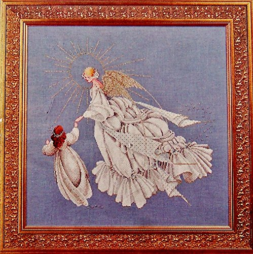 Lavender & Lace Angel of Mercy Counted Cross Stitch Pattern