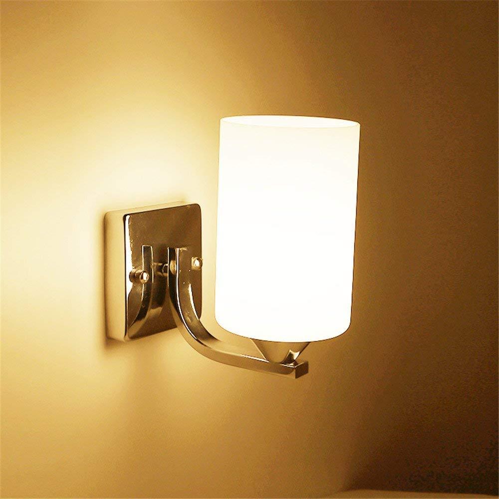 Minimalistische Wandleuchte E26   27 Base Moderne minimalistische LED-Nachttischlampe Schlafzimmer kreatives kontinentales amerikanisches Wohnzimmer Treppen Flure Licht Balkon Wandleuchten Lampe, 6001