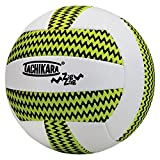 volleyball outdoor - Tachikara SofTec Zigzag Volleyball, Lime Green/White/Black