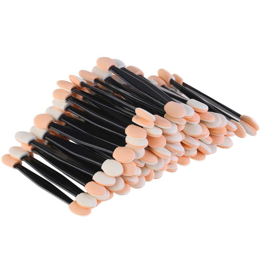 150 Pack Disposable Eyeshadow Brush, JASSINS Double-Sided Eye Makeup Sponge Applicators