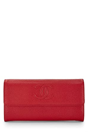 7c2fb573cda2cd Image Unavailable. Image not available for. Color: CHANEL Red Caviar Flap  Wallet (Pre-Owned)
