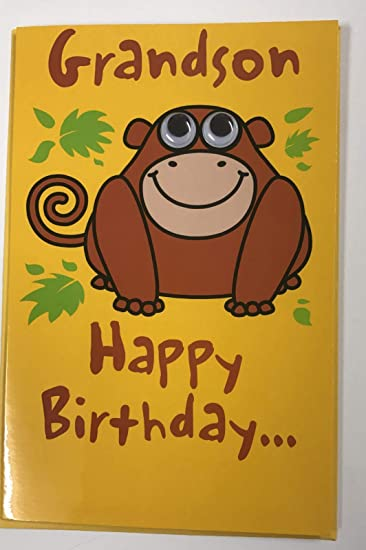 Image Unavailable Not Available For Color Birthday Cards Cheeky Monkey Grandson