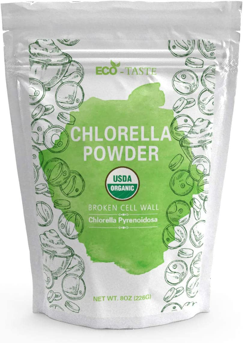 Chlorella Pyrenoidosa Powder Broken Cell Wall Superfoods for Vitamins, Proteins, Chlorophyll, 8 Ounce