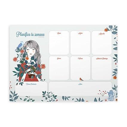 Cuquiland Escondite by Lady Desidia - Planificador semanal de mesa, A4, 21 x 29.7 cm, 120 páginas