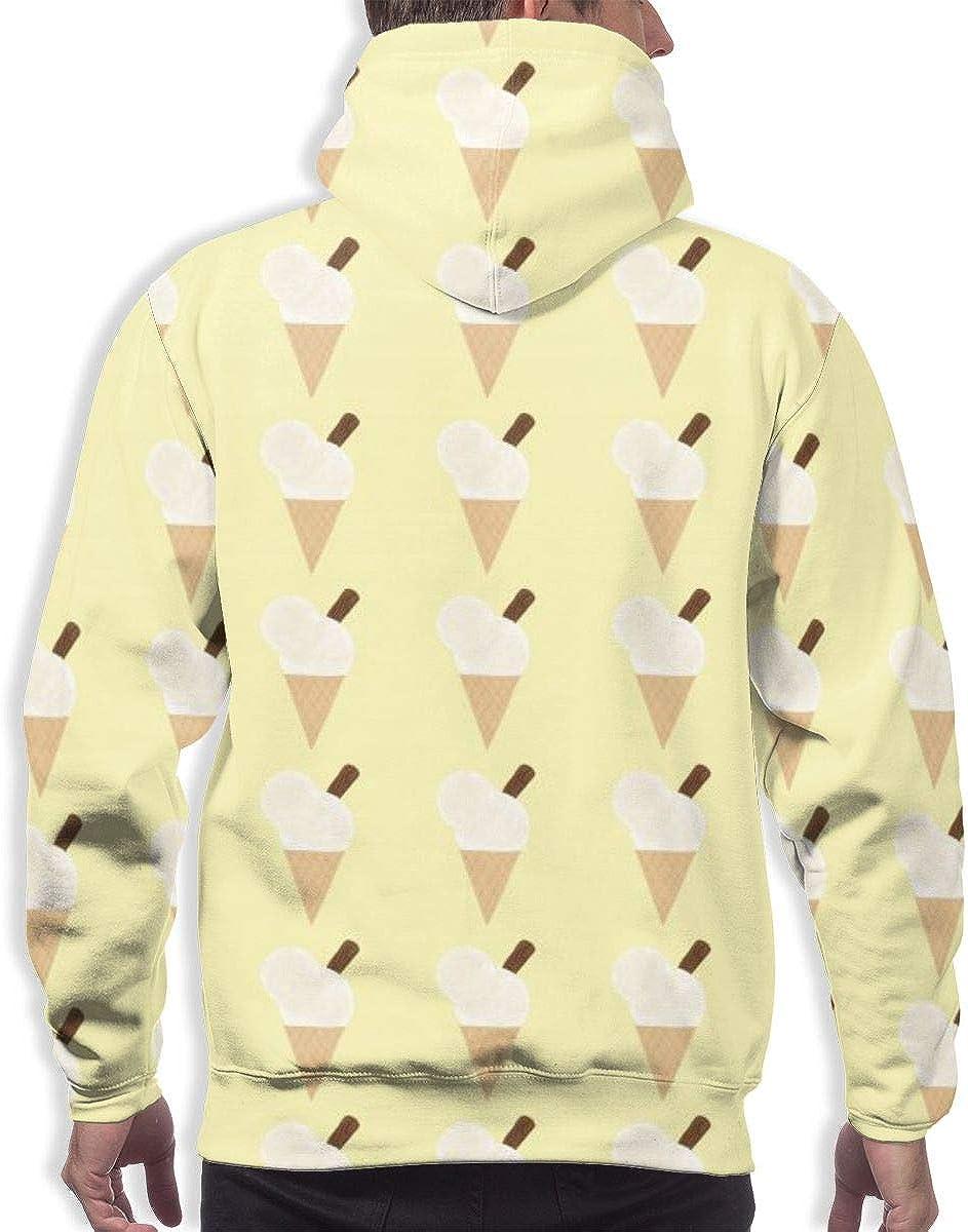 Mens Hoodie Summer Ice Cream Print Sweate Sweatshirt Mens Casual Hoodie Casual Top Hooded