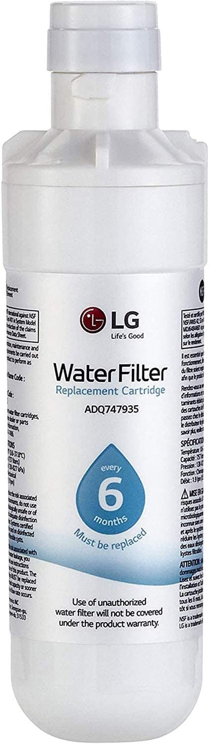 LG LT1000P - 6 Month / 200 Gallon Capacity Replacement Refrigerator Water Filter (NSF42, NSF53, and NSF401) ADQ74793501, ADQ75795105, or AGF80300704: Home Improvement