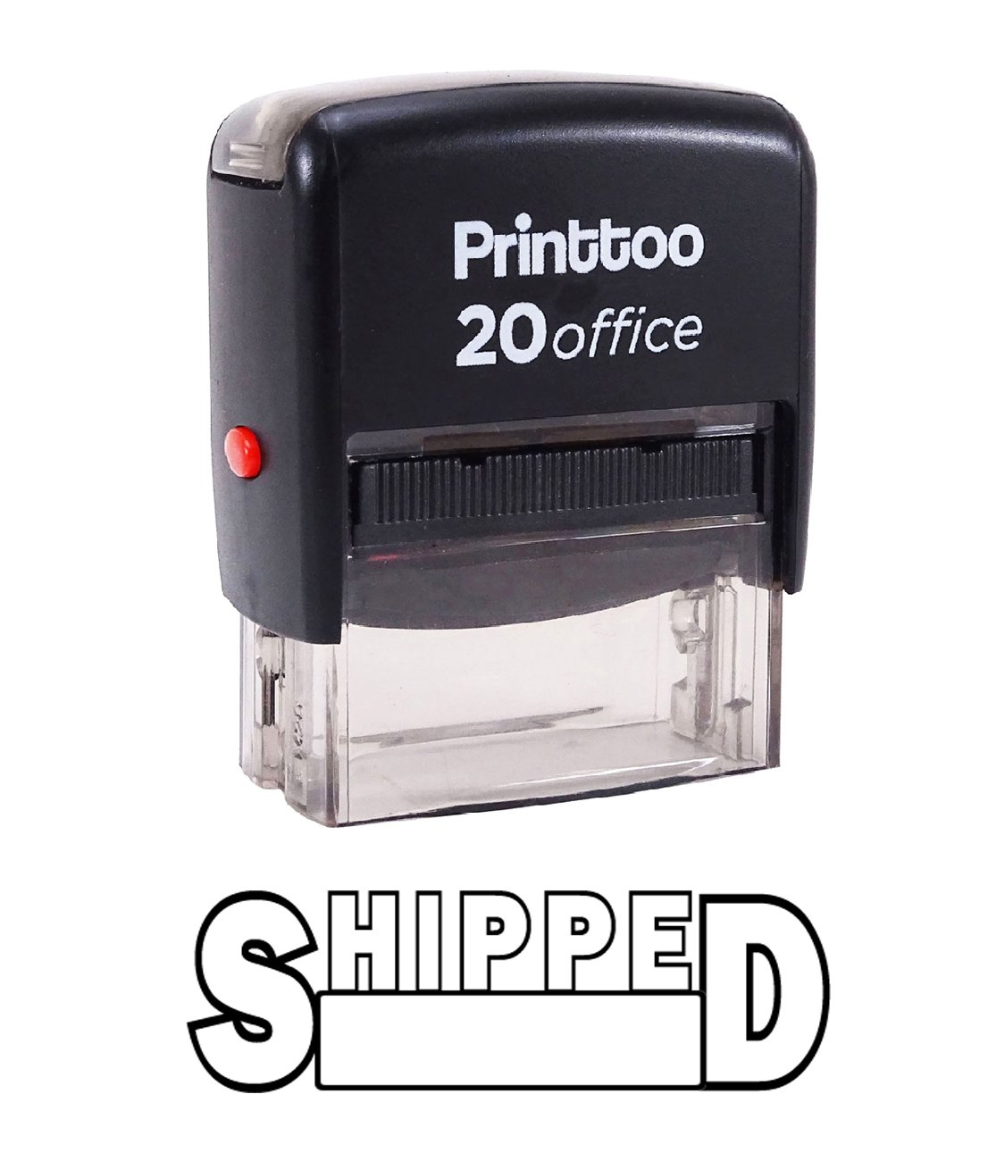 Printtoo Rubber Stamp Office Stationary SHIPPED Self Inking Custom Stamp-Red