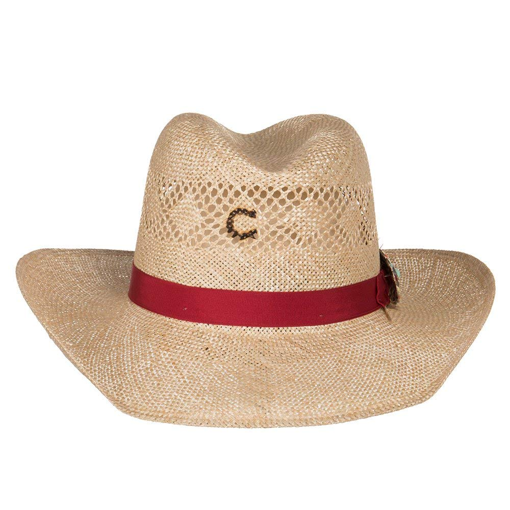 Charlie 1 Horse Hats Womens Stud Finder 3 1/2 Brim Sisal Straw L Natural by Charlie 1 Horse Hats (Image #3)