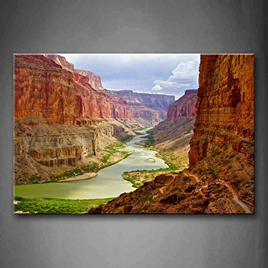 NIMCG Cuadros de Arte de Pared River Canyon Canvas Print ...