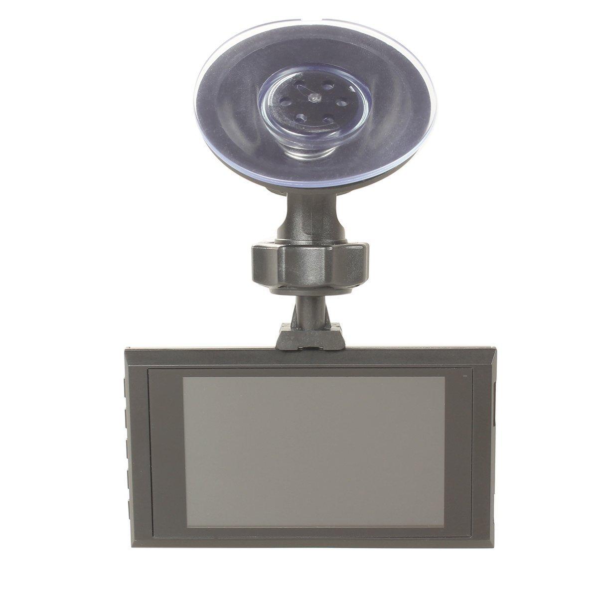 Dash Caméra HD 1080p de voiture DVR Enregistreur vidéo Cam 140 Angle de vision nocturne , moniteur de stationnement véhicule sauvegarde Caméra de tableau de bord 3 inch LCD Display Route caméscopev