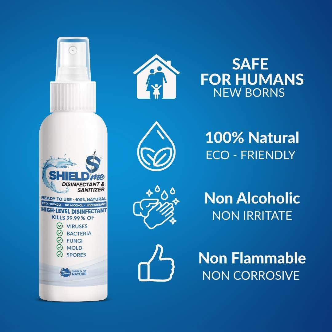 SHIELDme High Level Disinfectant & Sanitizer -100ml 4