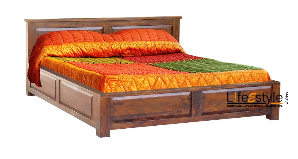Delightful Lifeestyle Sheesham Wood King Size Storage Box Bed: Amazon.in: Electronics