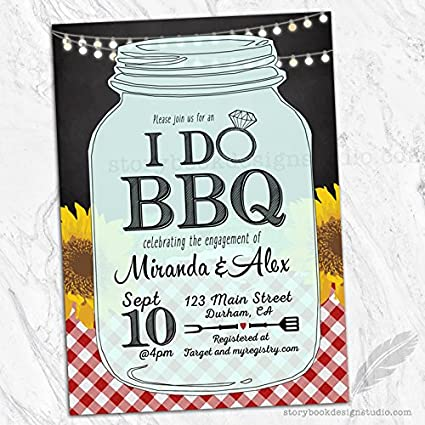i do bbq bridal shower invitations set of 10 personalized