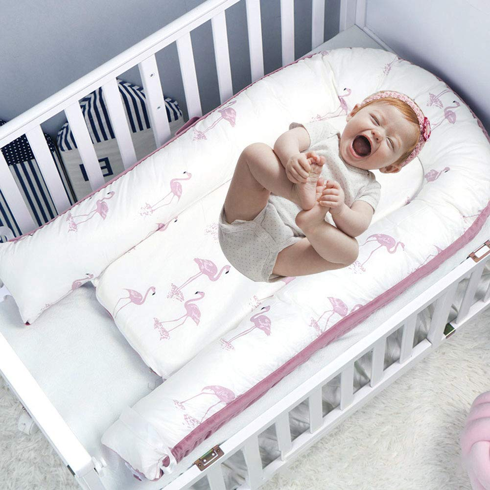 Cuna beb/é transpirable C/ómodo Cama Bebe Edad 0 a 36 meses Tumbona para beb/é Lavable tacto super suave