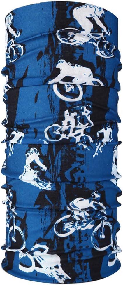 Elastiche Multifunktion Sport-Halstuch Stirnband Gesichtsmaske Schlauchtuch Kopfbedeckung Schlauchschal Rovinci 5 St/ück Multifunktionstuch Nahtlose Bandanas Laufen Wandern Radfahren Motorradfahren