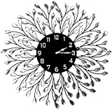 LuLu Decor, Decorative Crystal Metal Vine Wall Clock, Diameter 24″, 9″ black dial in Large Arabic Numerals, Perfect for housewarming gift (L72NDC) Review