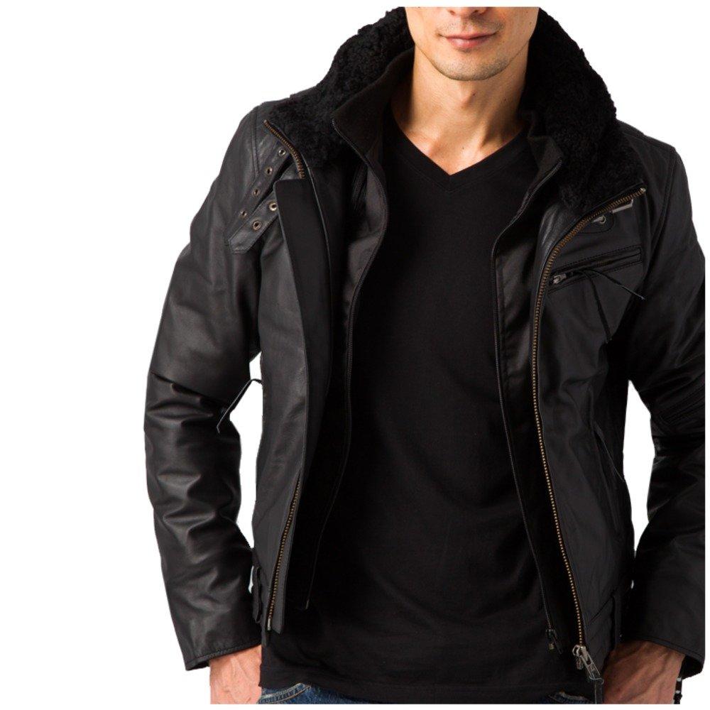 (リューグーレザーズ) Liugoo Leathers シングルライダース ハイウェイウィングネックシングル B073QJQXJ6 M ブラック ブラック M