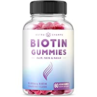 Biotin Gummies 10,000mcg [Highest Potency] for Healthy Hair, Skin & Nails for Adults...
