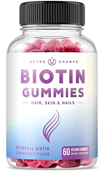 Biotin Gummies 10 000mcg Highest Potency For Healthy Hair Skin Nails For Adults Kids 5000mcg In Each Gummy Vitamin Vegan Non Gmo