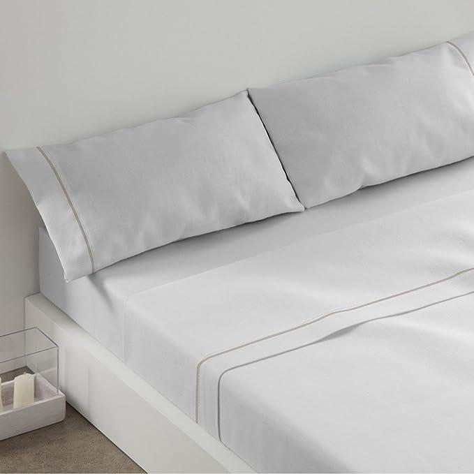 Burrito Blanco - Juego de sábanas Claro de Luna 241 para cama 90x190/200 cm, color blanco: Amazon.es: Hogar