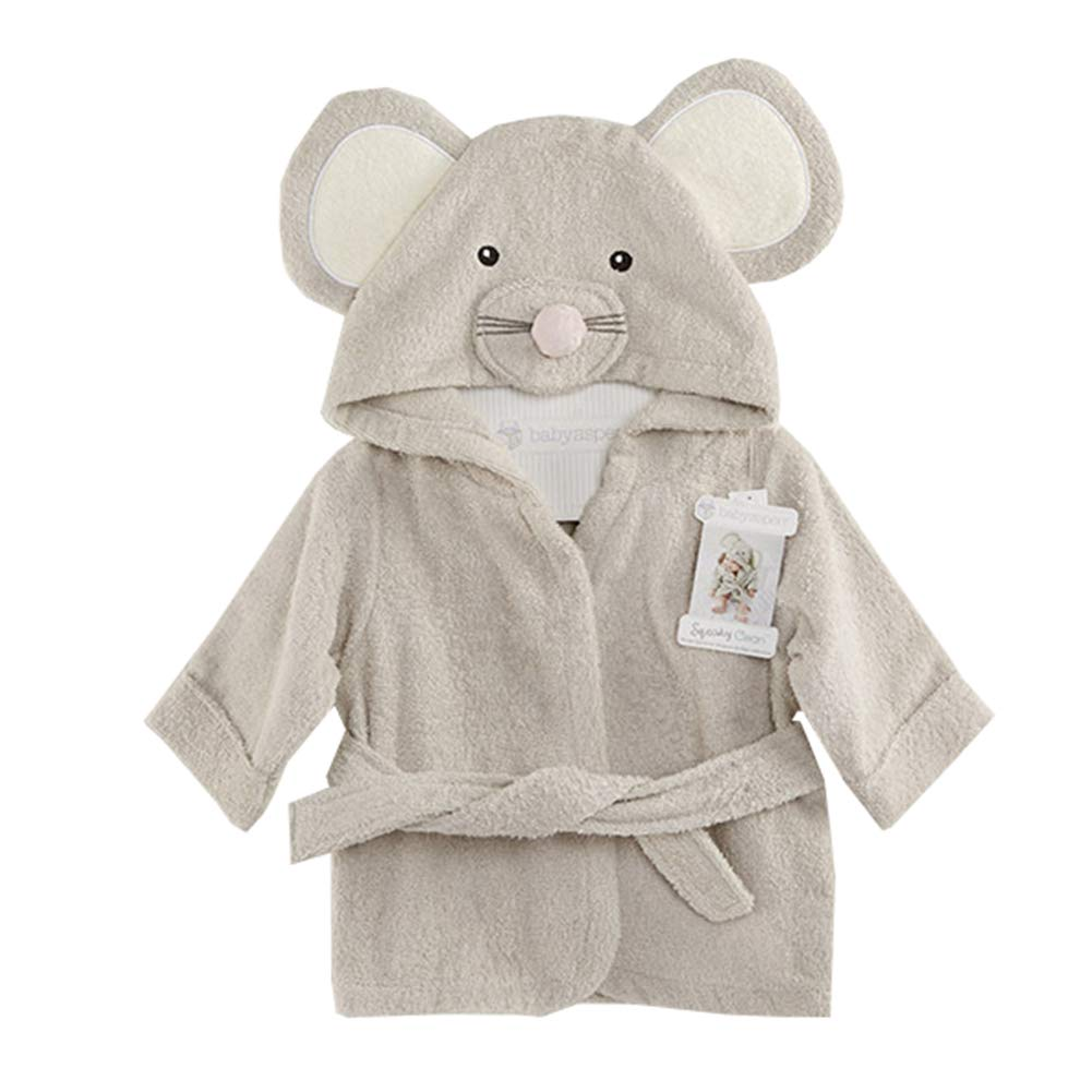 ALLAIBB Baby Kids Bathrobe Cartoon Animal Wrap Gown Sleepwear Hooded Robe Panda Rabbit Mouse