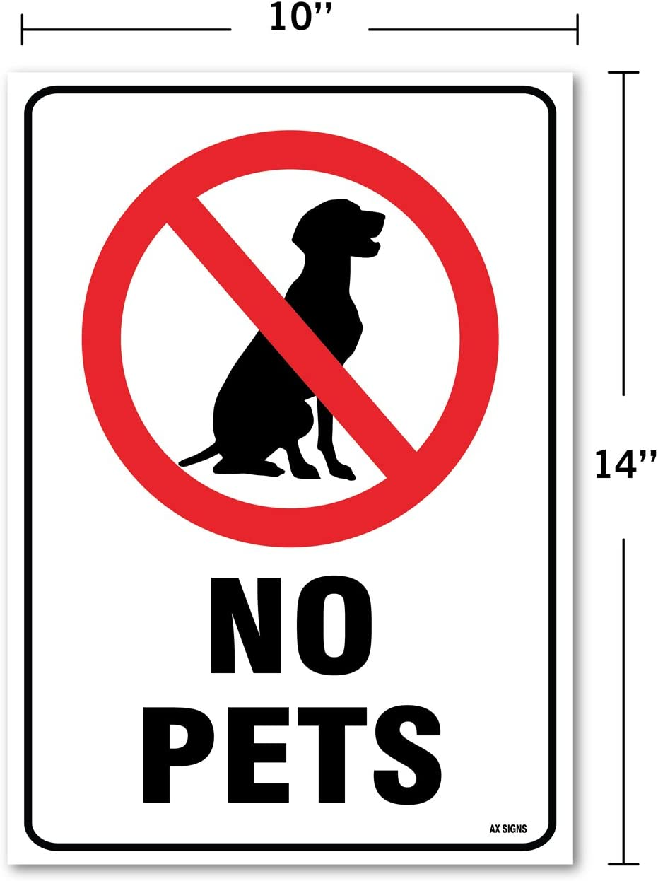 """No Pets Dogs Allowed  Warning Sign Sticker Decal 6/""""x6/"""" Set of 2 #2"""