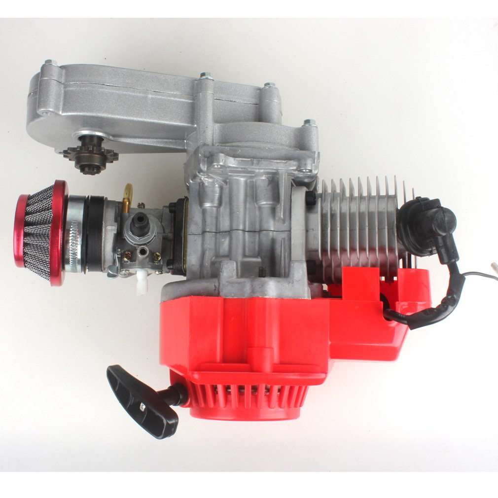 Handle Bar Wingsmoto 49CC 2 Stroke Motor with T8F 14t Gear Box Easy to Start Pocket Bike Mini Dirt Bike DIY Engine Throttle Cable