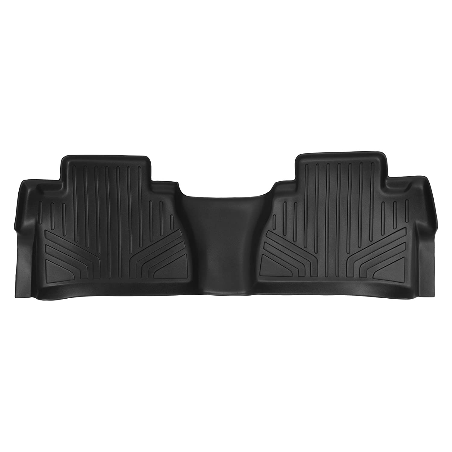 MAX LINER B0146 Custom Fit Floor Mats 2nd Row Liner Black for 2014-2019 Toyota Tundra Double CrewMax Cab