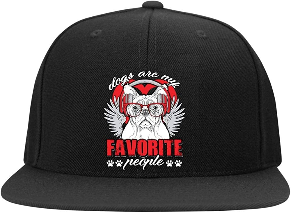 Cool Dog Profile Snapback Hat Dogs are My Favorite People Cap