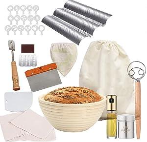 ZULINARY Bread Baking Accessories| Baguette Pan| 9