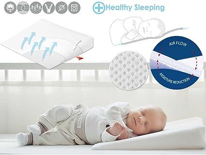 Bebé Matex cuna seguridad Aero Wedge cuna almohada (60 x 36 cm)