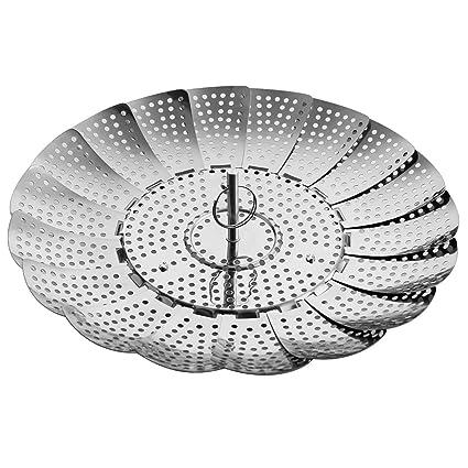 Insert For Pots Crock /& Pans 100/% Stainless Steel Vegetable Steamer Basket