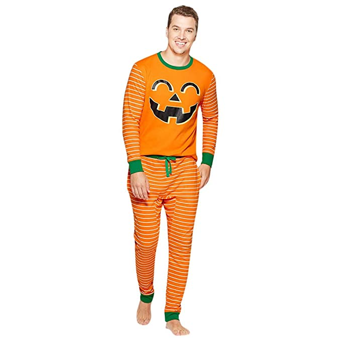 SamMoSon❤❤Ropa de fútbol para Hombre,Hombre Dad Pumpkin Tops Blusa Pantalones Familia