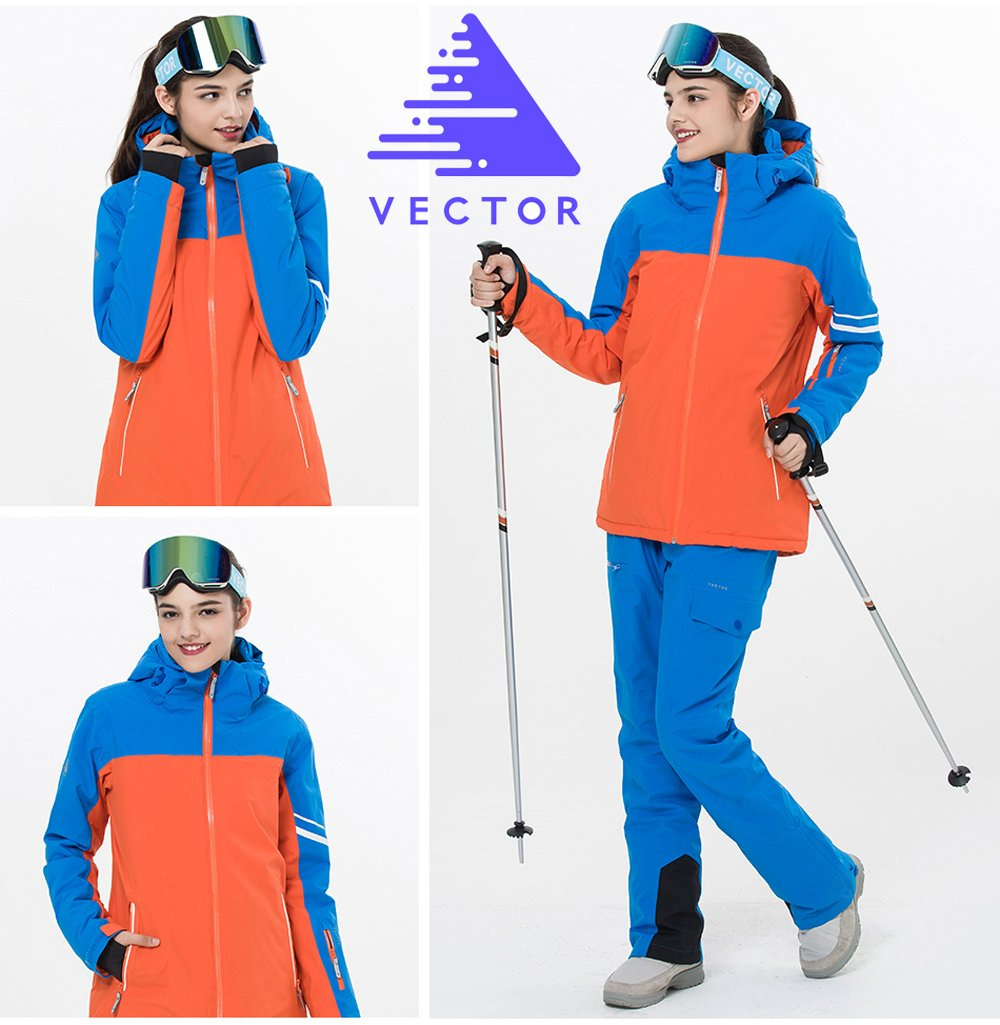 VECTOR TPU Waterproof Windproof Cotton Padded Thermal Parkas Snowboard Snowmobile Ski Jacket for Women