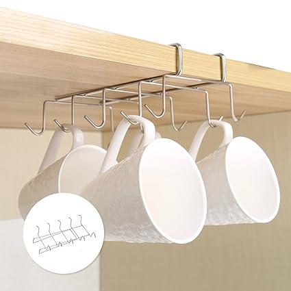 Ordinaire NewSoul1us Mug Holder Under Shelf Cup Hooks Under Cabinet Mug Rack Hanger Coffee  Cup Holder Drying