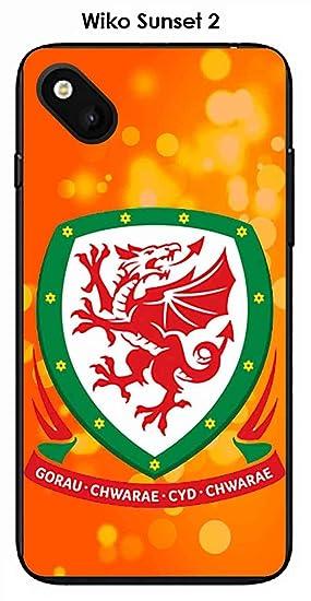 Onozo Carcasa Wiko Sunset 2 Design Foot de Gales Fondo Azul ...
