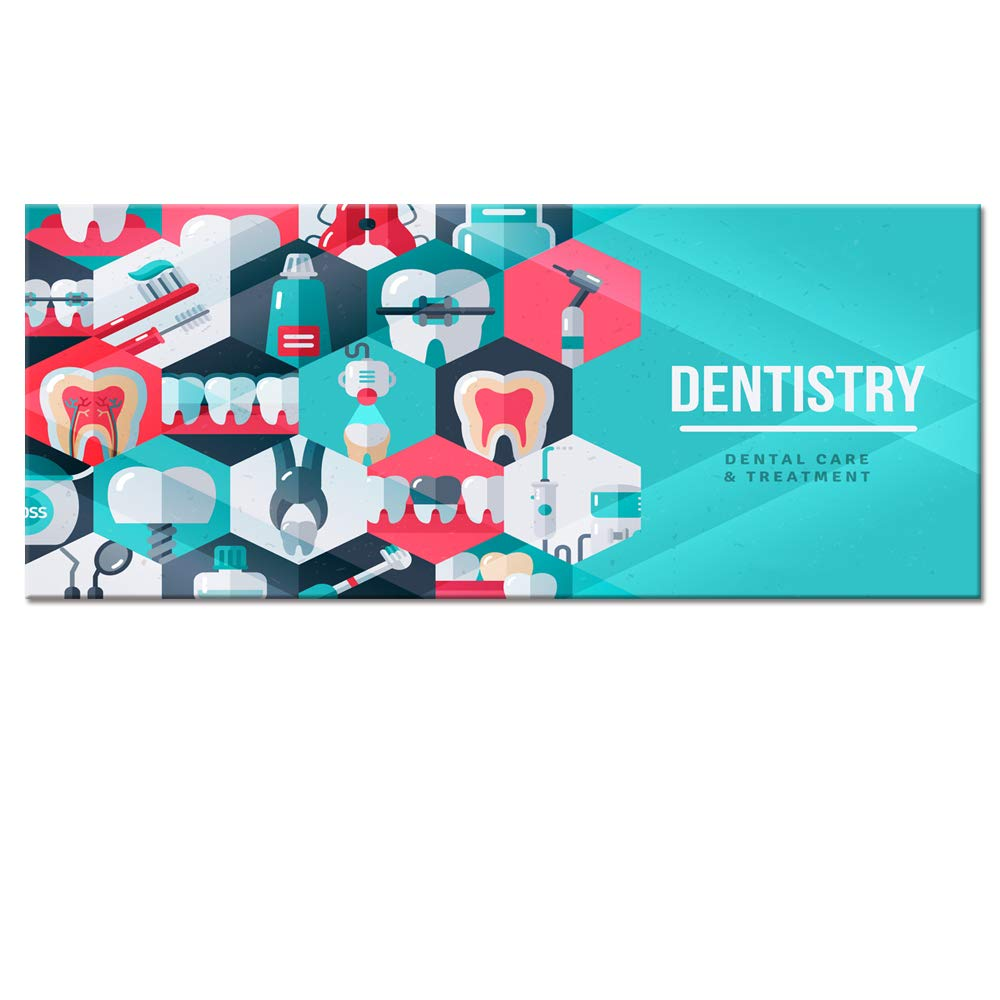Dental teeth X-Ray Dentist 5 Pieces canvas Wall Art Picture Poster Home Decor