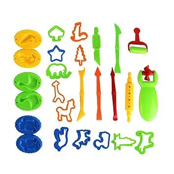 SELIFY 26 moldes de bricolaje para jugar a la masa, kit de herramientas para decoración