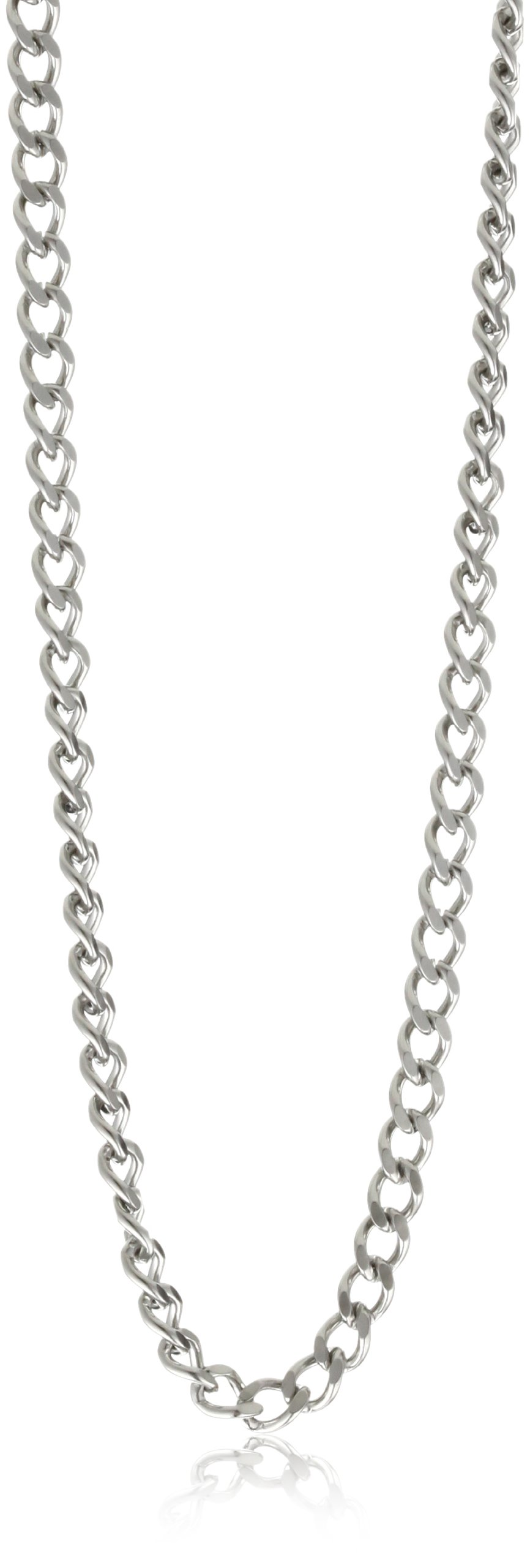 Charles-Hubert, Paris 3911-W Stainless Steel Pocket Watch Chain