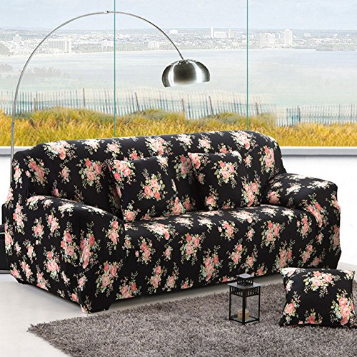 Sofa-slipcover Tight Wrap All-Inclusive Slip-Resistant Sectional Elastic Full Corner Sofa Cover l Shaped Sofa 1 2 3 4 Seater 1PC   color 12, 4seater 235-300cm