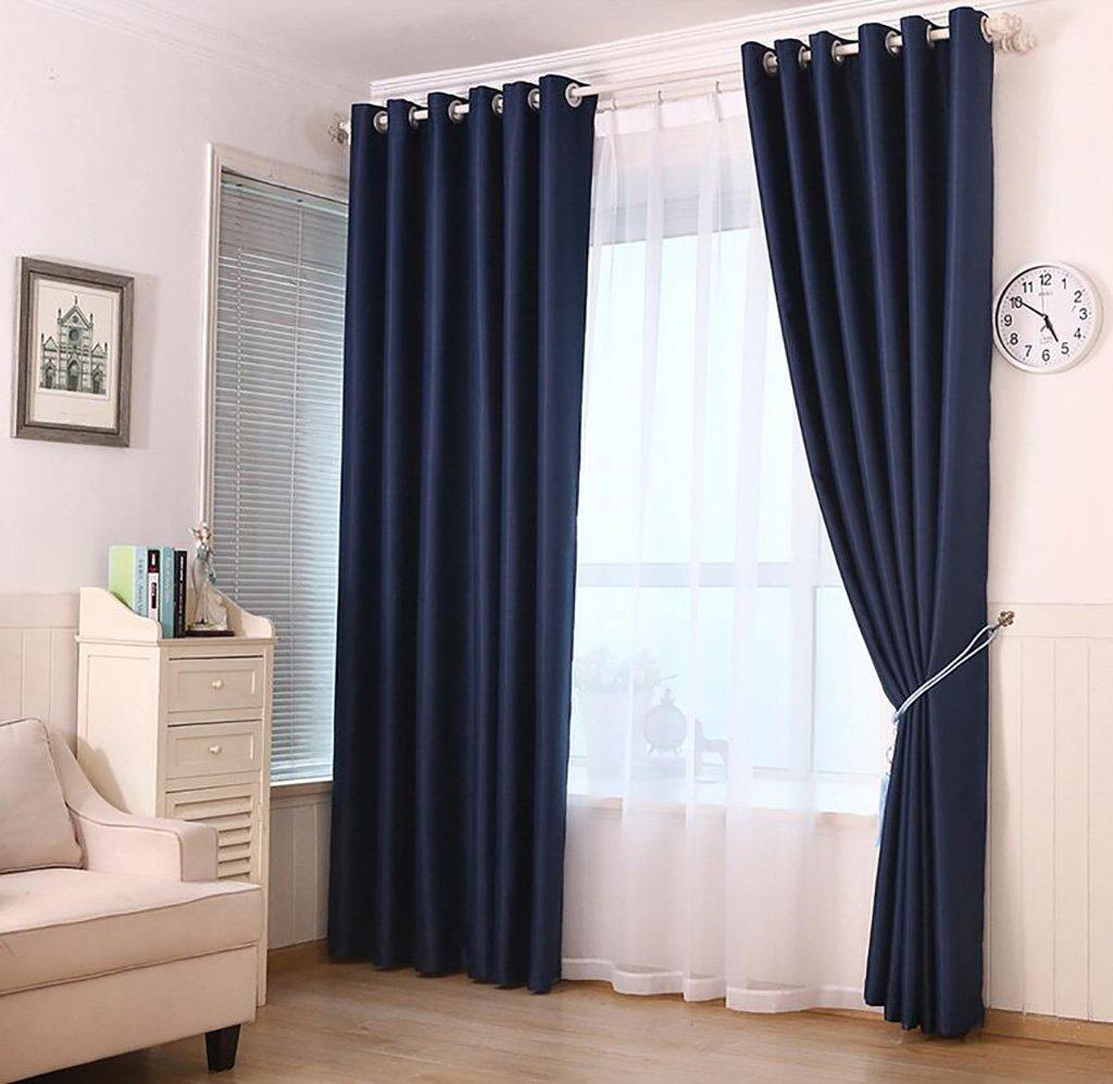 カーテンスーパーソフトソリッド断熱断熱遮光厚手の寝室用リビングルームバルコニー(一対) (Color : B, Size : 200CM*250CM) 200CM*250CM B B07K52S4GN