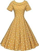 GownTown Women's 1950s Polka Dot Vintage Dresses Audrey Hepburn Style Party Dresses
