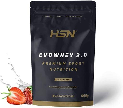 Concentrado de Proteína de Suero Evowhey Protein 2.0 de HSN | Whey Protein Concentrate| Batido de Proteínas en Polvo | Vegetariano, Sin Gluten, Sin ...