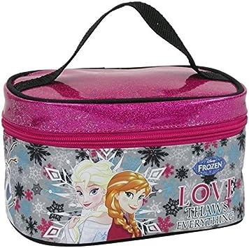 Disney Frozen Maxi & Mini - Maletín de viaje diseño de Frozen, estuche de belleza, bolsa de aseo, novedad: Amazon.es: Juguetes y juegos
